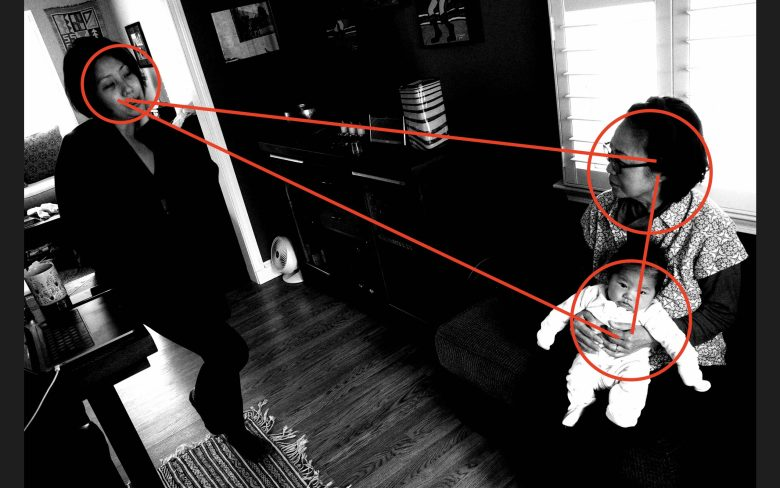 Triangle composition Cindy Seneca mom