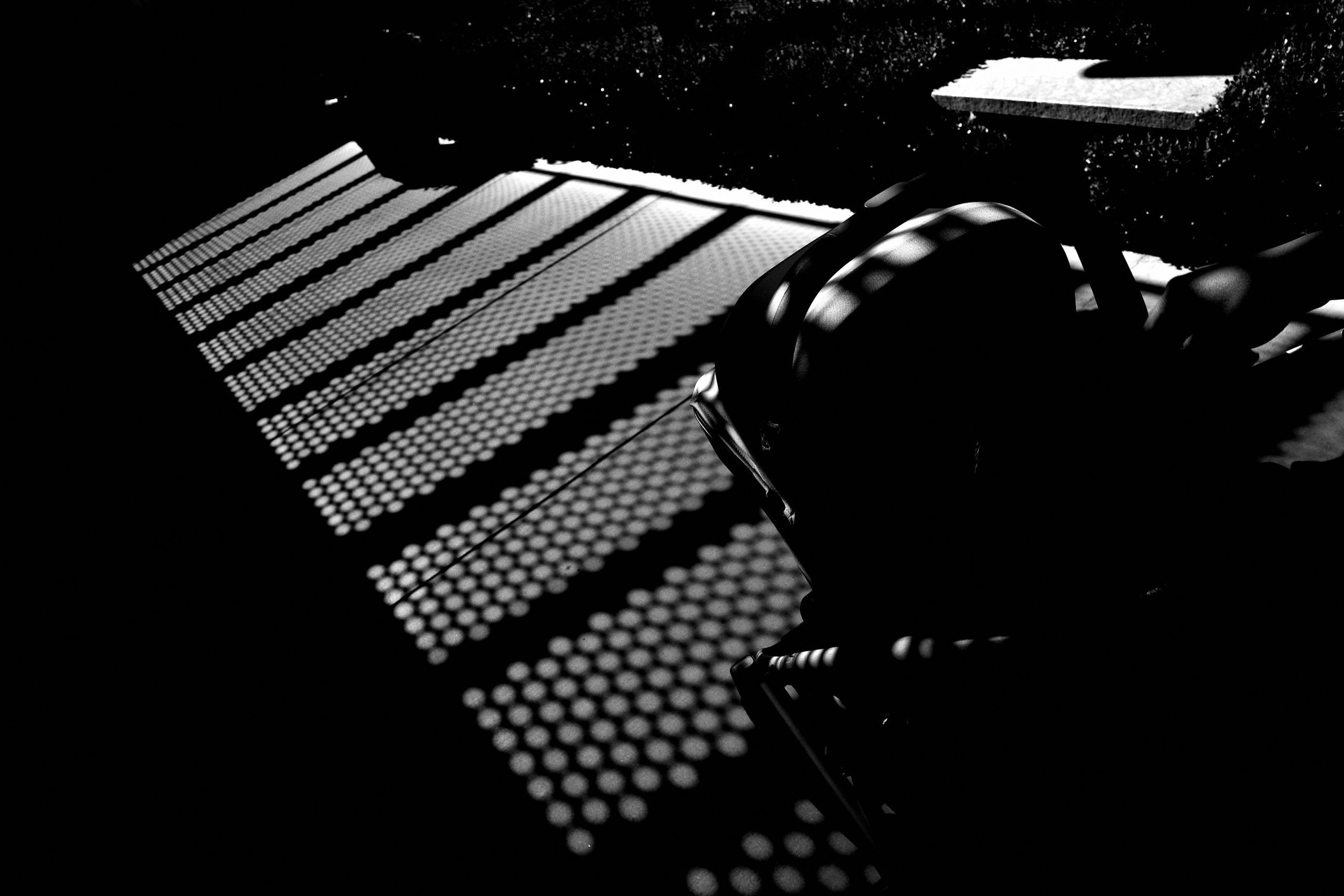 stroller abstract black and white