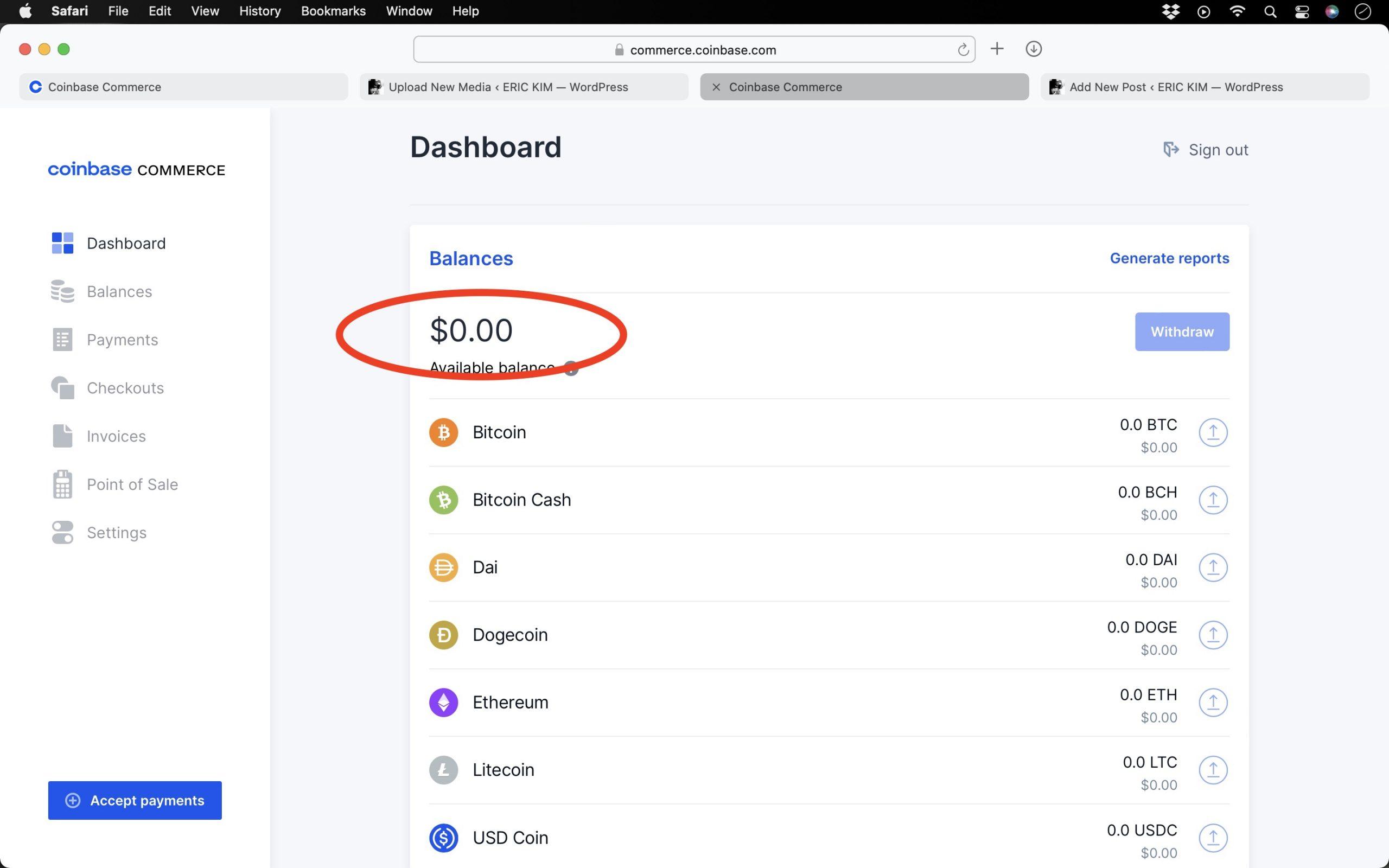 bitcoin coinbase commerce