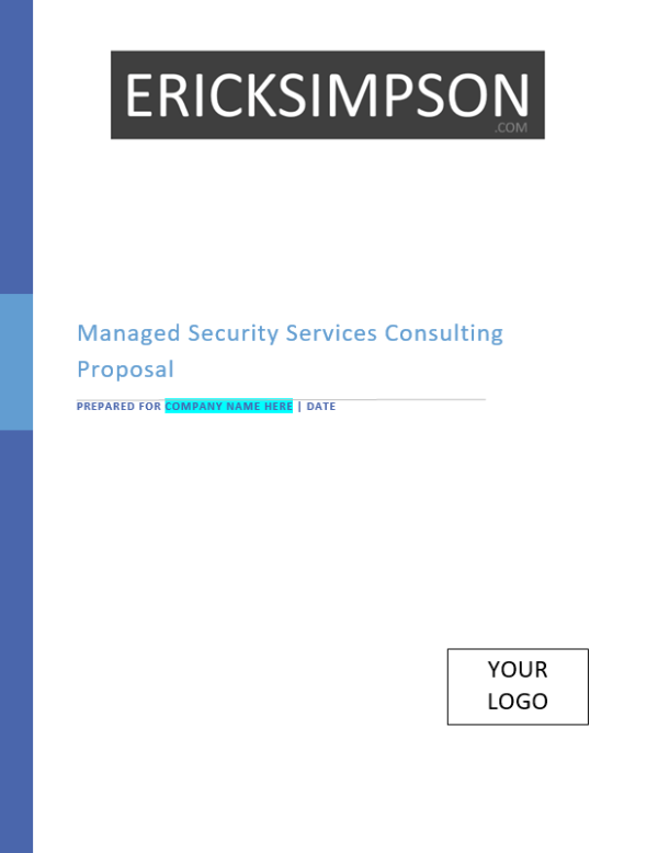 Erick Simpson's Managed Security Services Sales Proposal