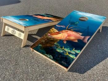 Hogfish cornhole board set