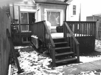IIlegal wood deck.
