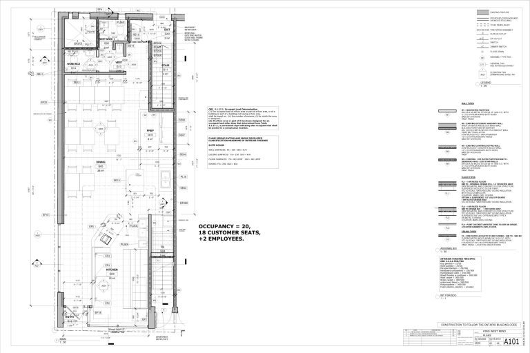 Restaurant reno plan.