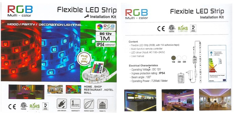 1-meter long LED strip by Canada Computers.