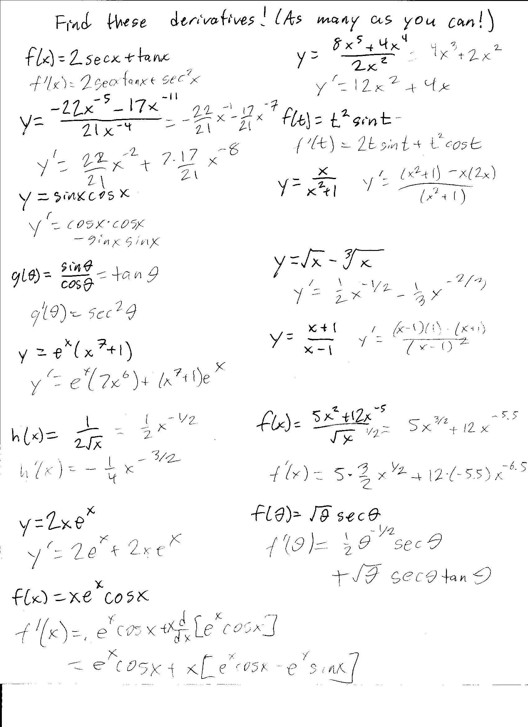 Worksheets Derivatives Worksheet derivatives worksheet free worksheets library download and print deriv tive w ksheet ksheets libr ry downlo d nd pr t