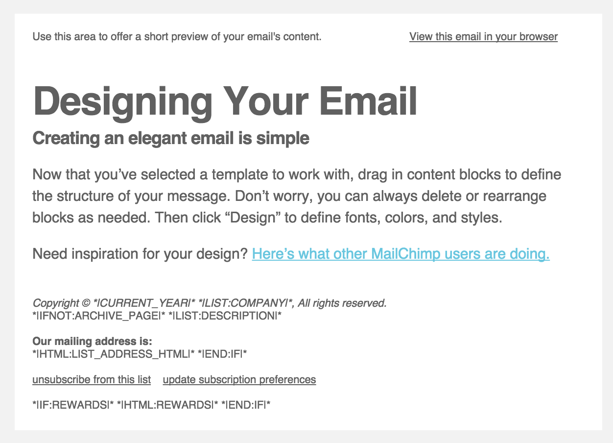 Mailchimp Template