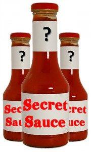 Bottle of secret sauce
