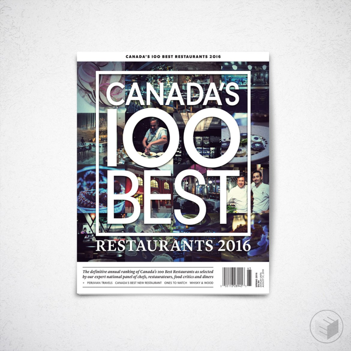 CANADA'S 100 BEST RESTAURANTS 2016 COVER