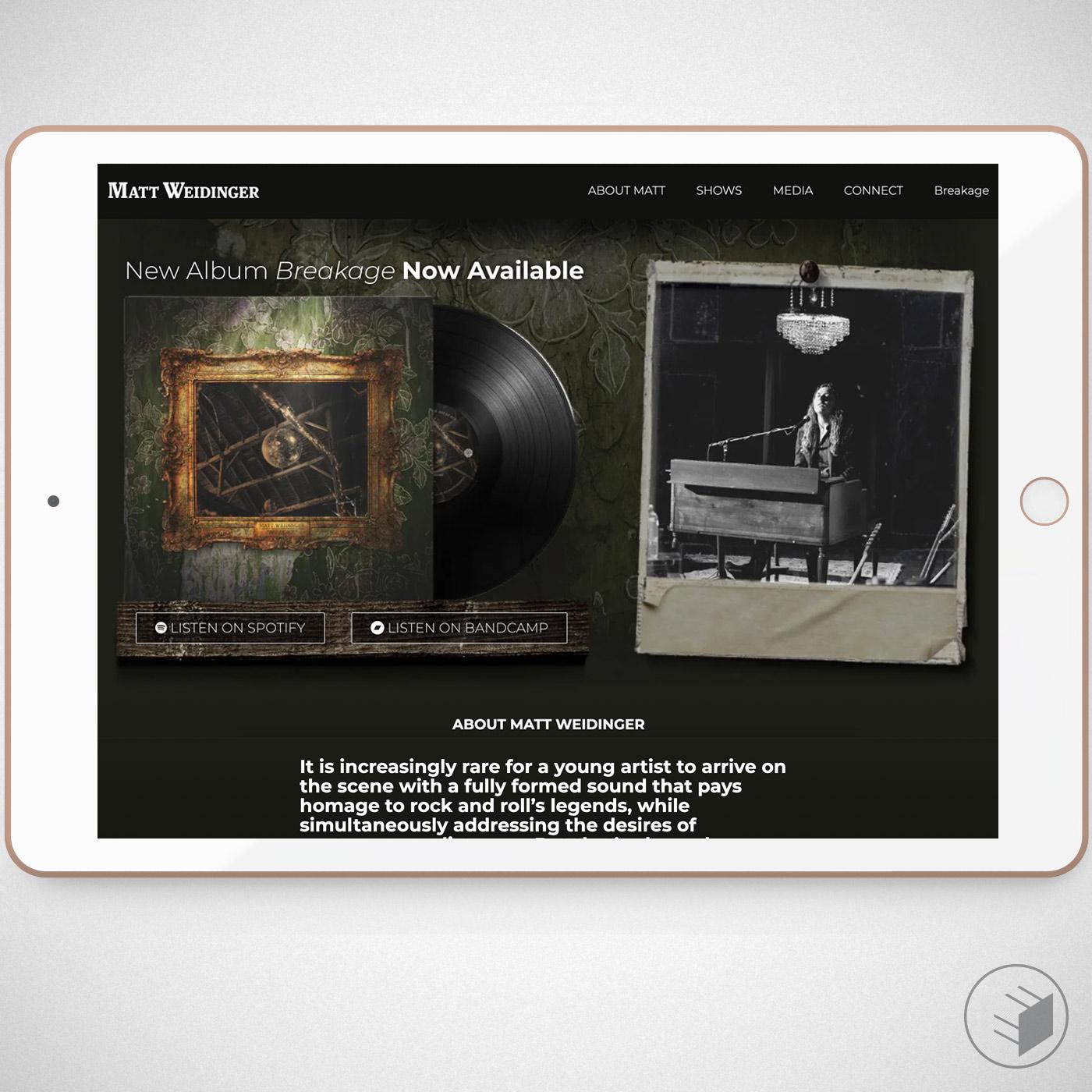 MATT WEIDINGER WEBSITE & ALBUM COVER