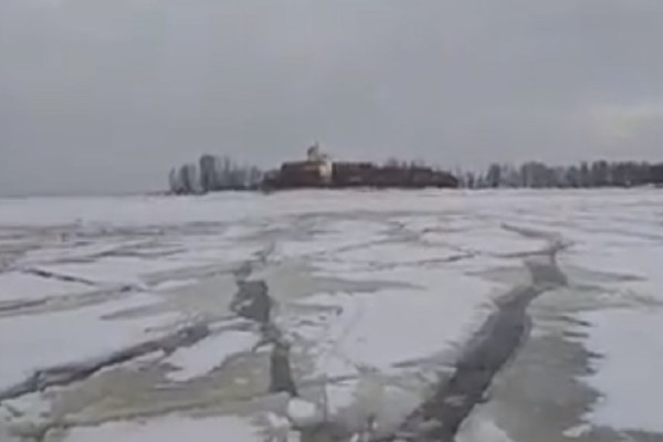 ice fishing fail