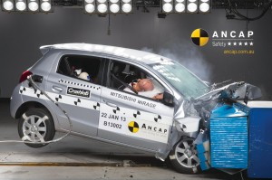 Mirage crash test picture