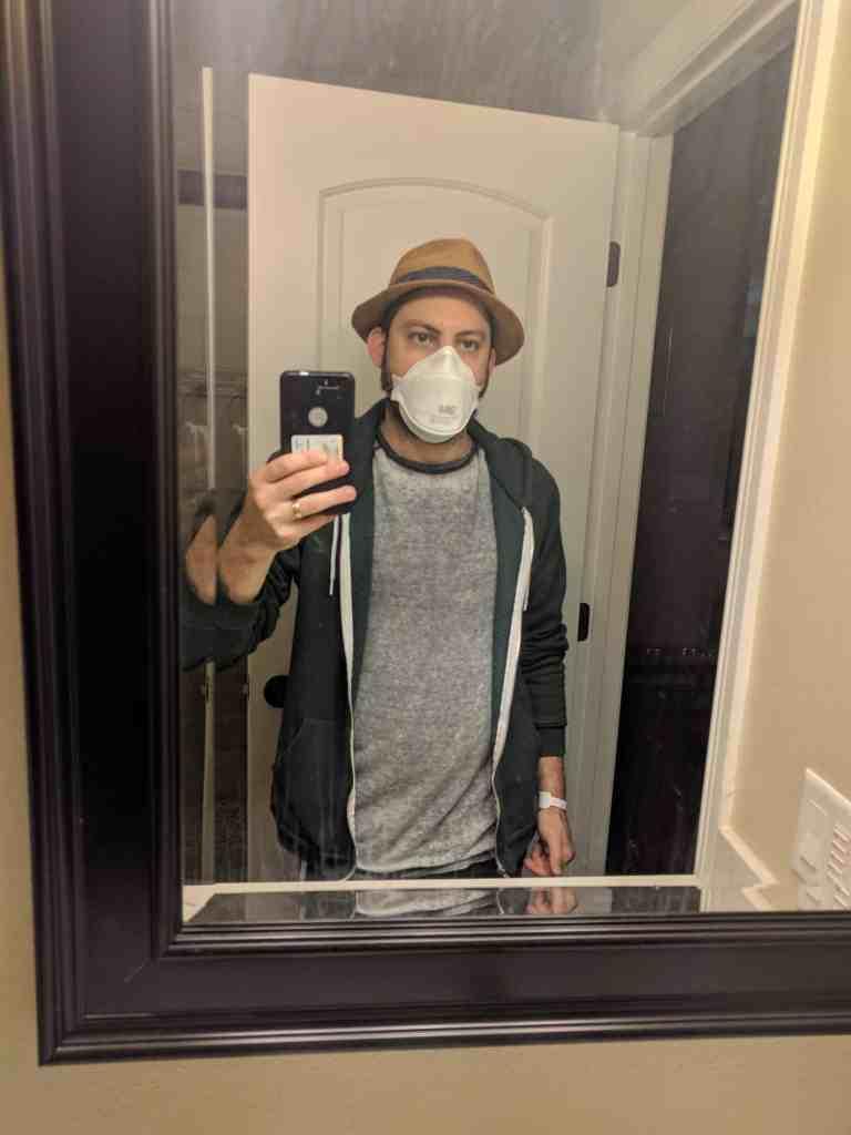 Smoke Mask During Thomas Fire Eric Rosenberg
