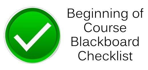 Beginning of Course Checklist