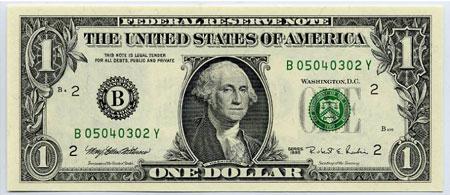 1 dollar bill