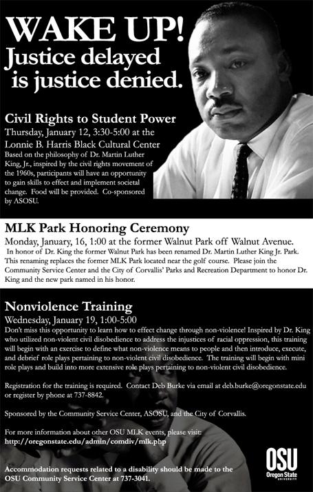 MLK Day poster
