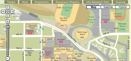 Map Of Arizona State University.Campus Maps And Google Eric Stoller