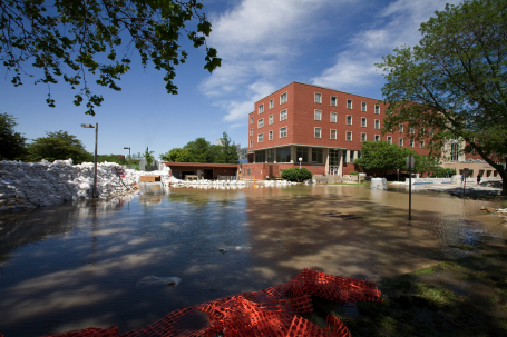 Flooding at the University of Iowa in Iowa City
