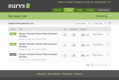 Survs - Online Surveys