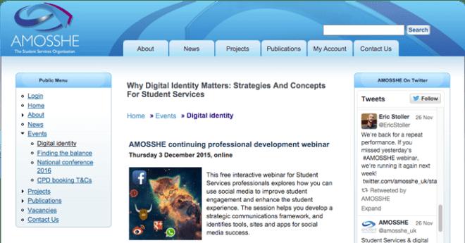 AMOSSHE digital identity webinar