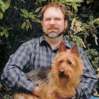 Eric Thorton with pet friend