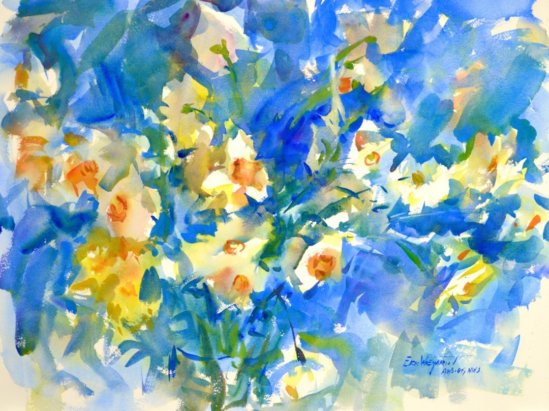 4275 Daffodils, original watercolor painting by Eric Wiegardt AWS-DF, NWS