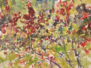 4327 Brambles, original watercolor painting by Eric Wiegardt AWS-DF, NWS
