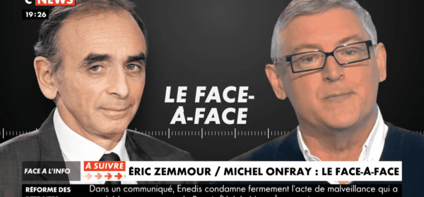 Eric Zemmour et Michel Onfray