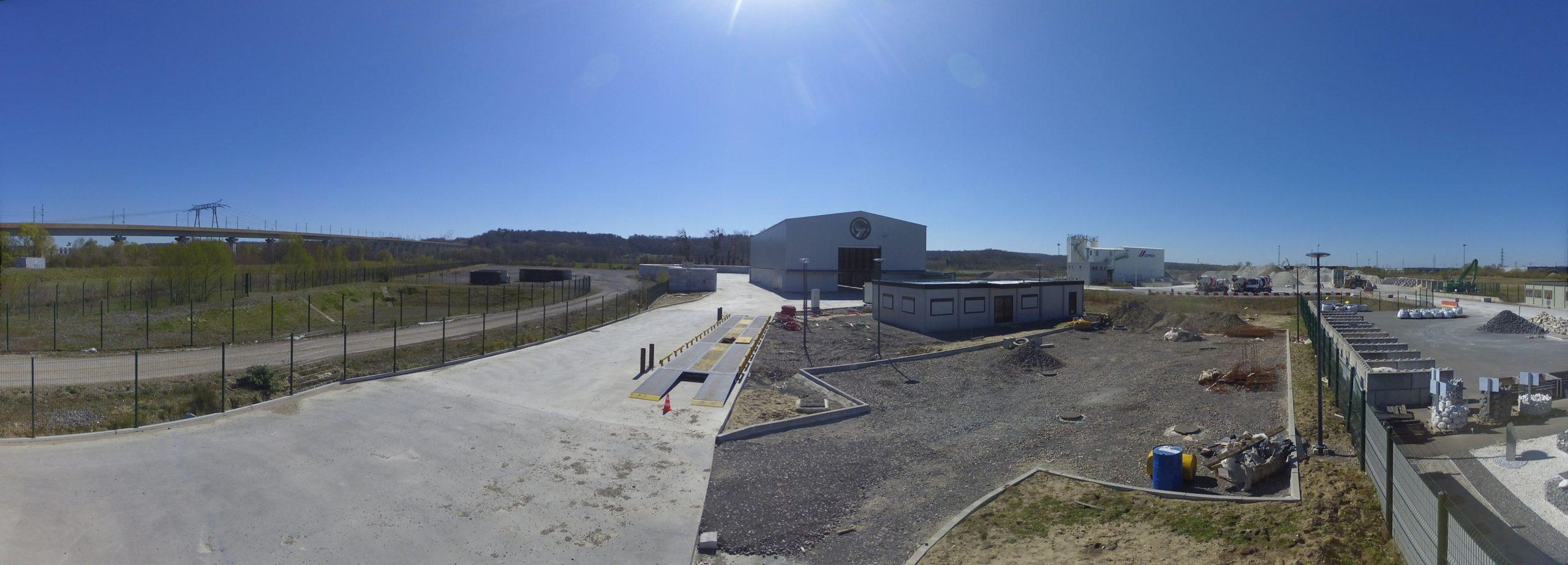 Longueil Sainte Marie Drone up timelapse construction