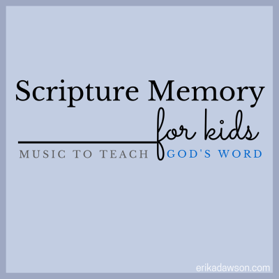 great list of music for kids to help them memorize Bible verses