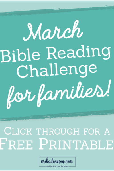 Bible Reading Challenge for Families :: March 2016