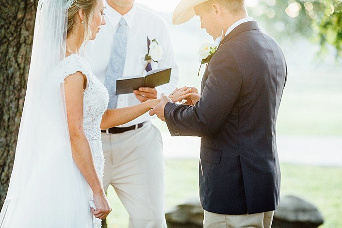 Southern Wedding Photographer | Mattie and Luke's Ring Ceremony