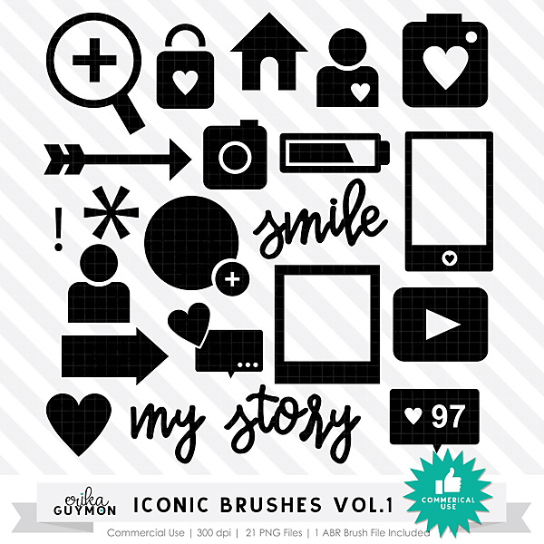 Iconic Photoshop Brushes Vol.1