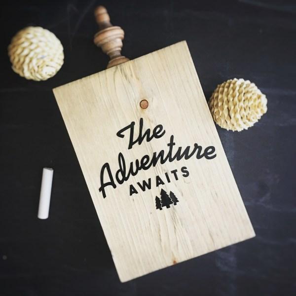 Wood Cutout | The Adventure Awaits