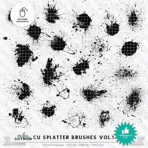 CU Splatter Brushes Vol.1 | Designer Resource | Erika Guymon