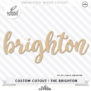 Custom Wood Cutout | The Brighton