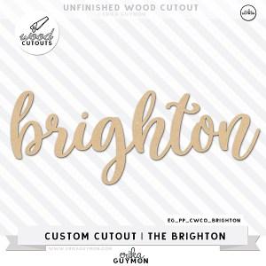 Custom Wood Cutout   The Brighton