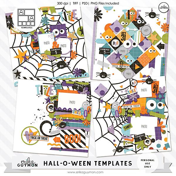 HallOWeen Digital Scrapbooking Templates