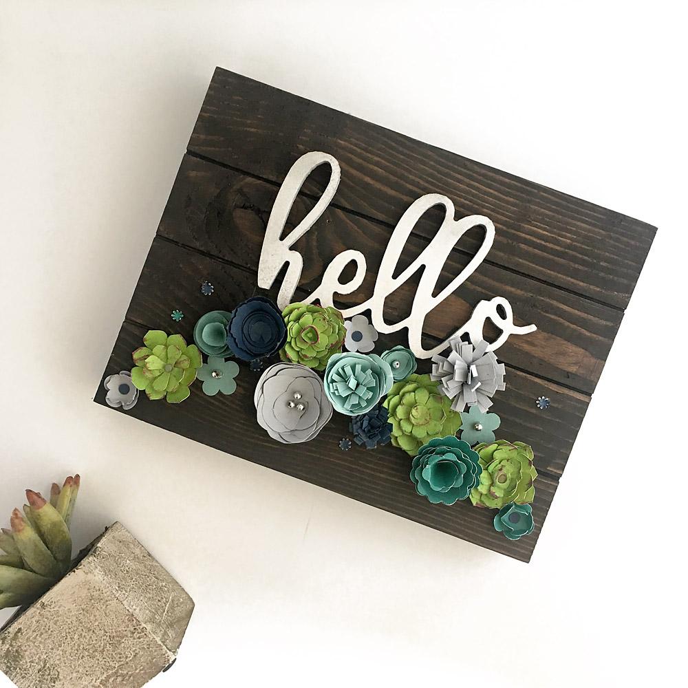 Succulent Hello Sign | Erika Guymon