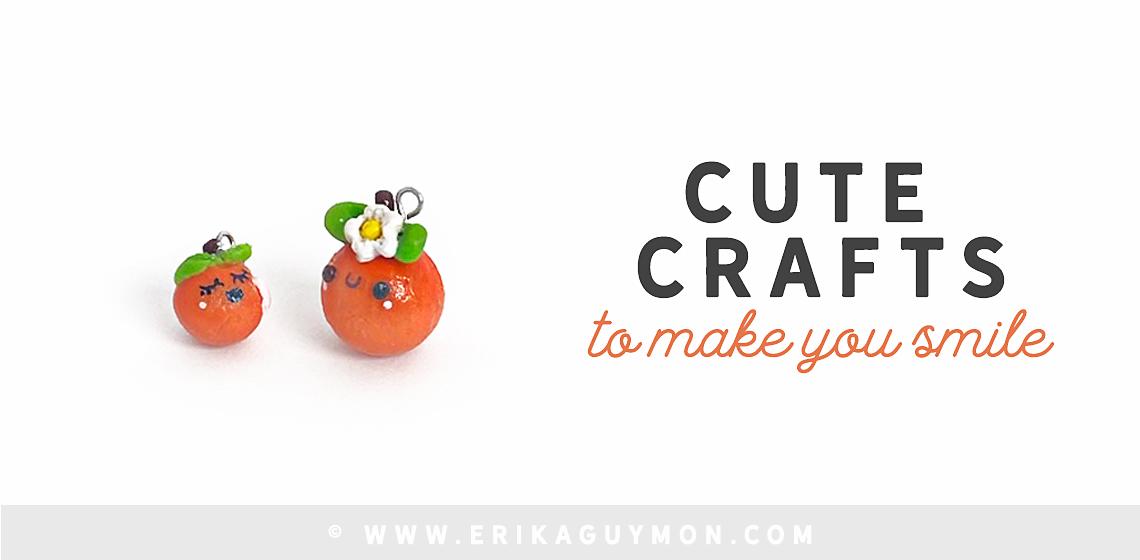 Cute Polymer Clay Cutie Orange