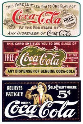 Rótulos Vintage - coca cola