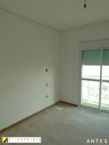 ANTES do quarto do casal. Apartamento Clássico Contemporâneo em SP projeto Erika karpuk