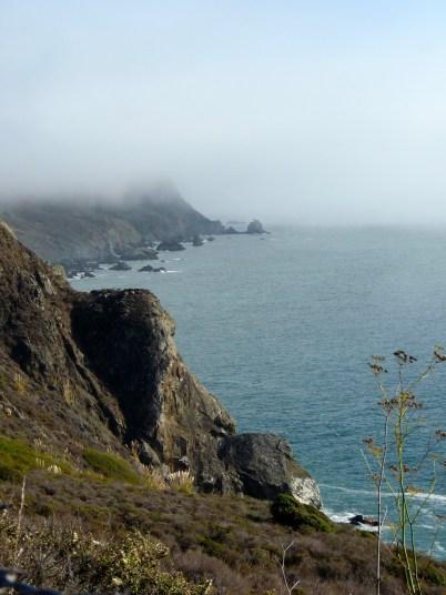 fog on california cliffside