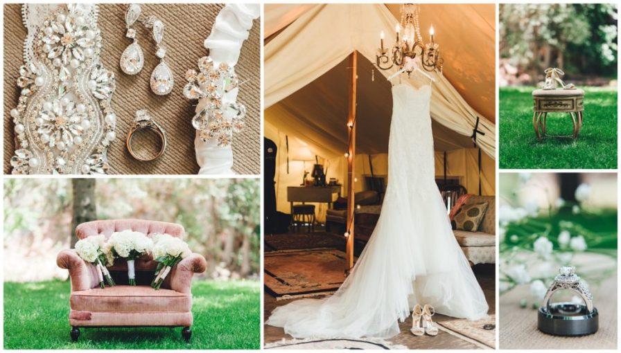 wedding dress by pronovias, bridal details