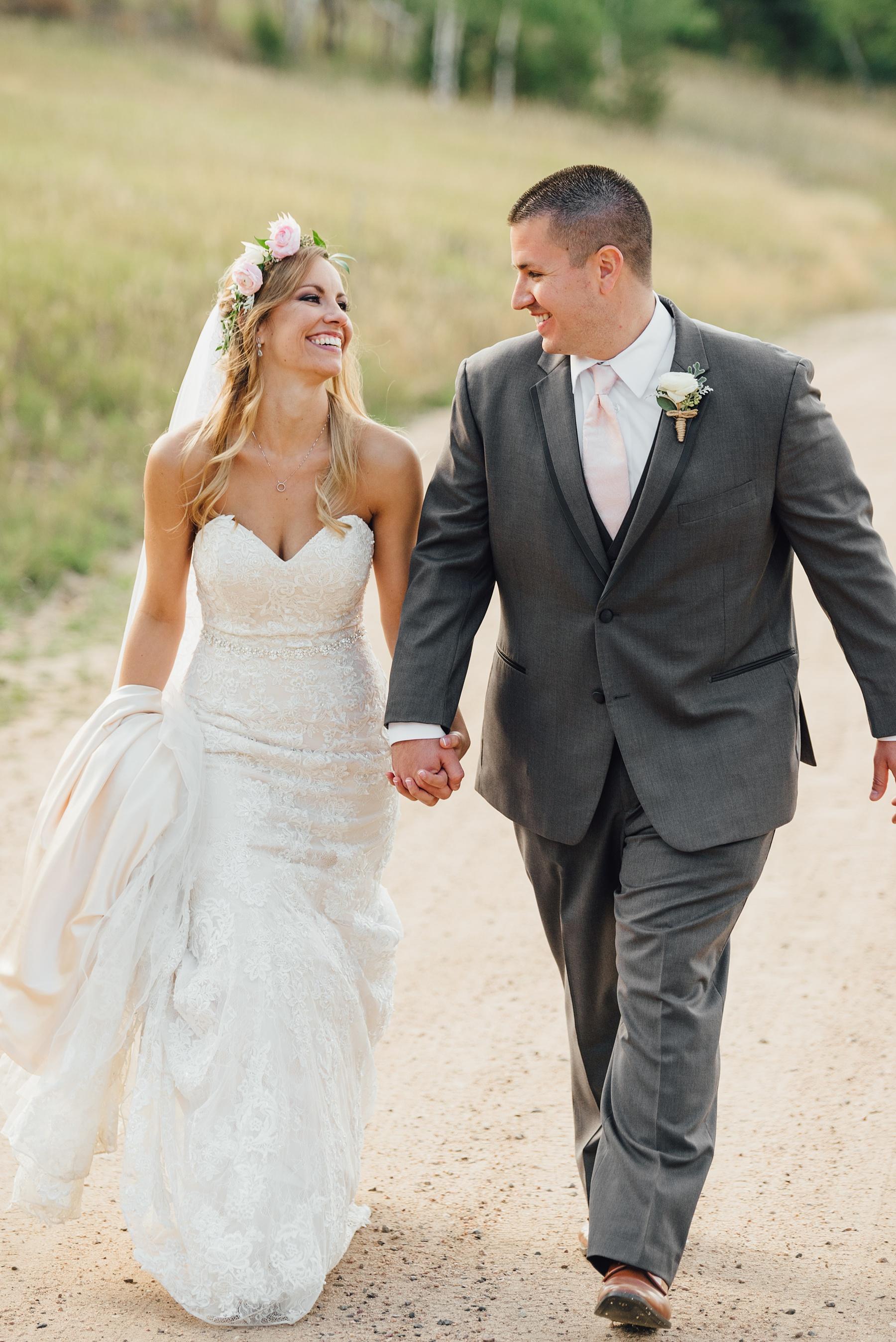 flower crown bride, boho wedding, meadows at marshdale