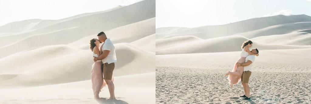 sand dunes engaged