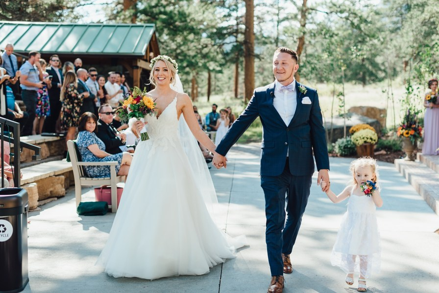 recessional of bride and groom