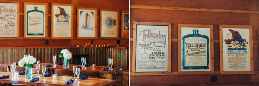 planet bluegrass wedding reception decor