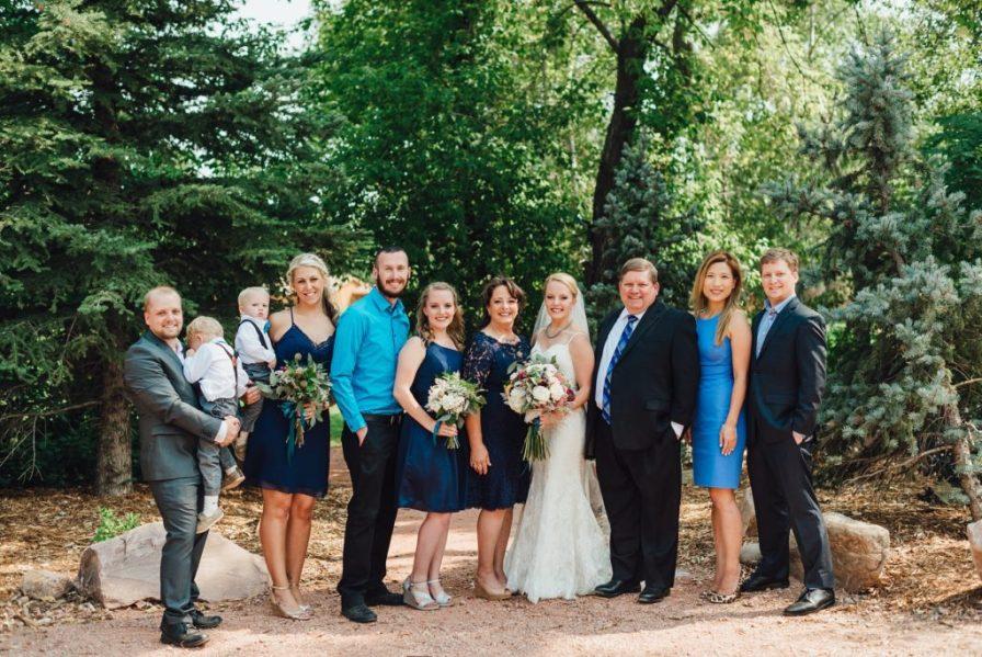 bride family photos
