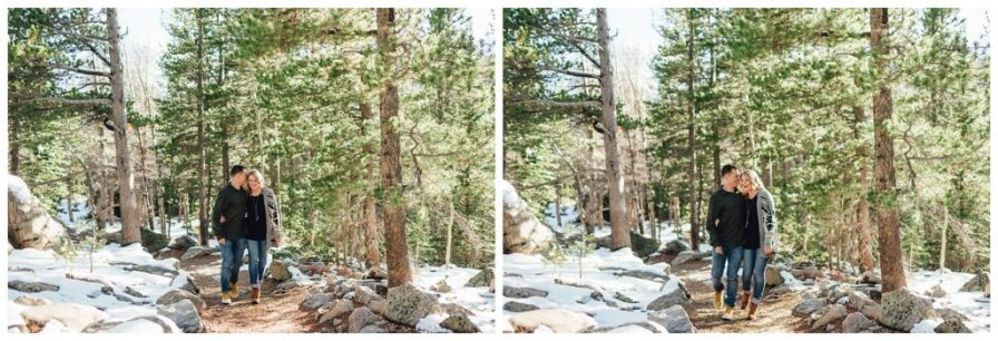 Engagement photos in Rocky Mountain National Park