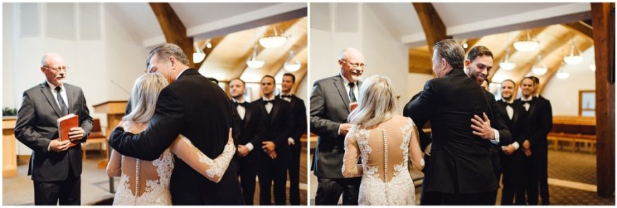 Father giving his daughter away at her wedding